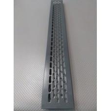 Алюмінієва решітка 480*60мм колір RAL7016
